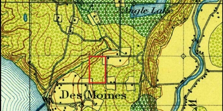 Picture of USGS Map from 1900.